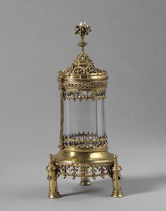 elicarioRelicario Fecha: ca. 1500 Cultura: Húngaro Medio: dorado de plata, cristal de roca, y la perla