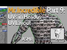 In this video, I will create the UVs of Mr. Incredible using Headus UVLayout. I hope you will enjoy and feel relaxed. Animation Tutorial, Hair Creations, Character Creation, Asmr, Zbrush, I Hope You, Modeling, The Incredibles, Texture