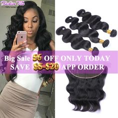 Fashion Vila Peruvian Body Wave With Closure Full Lace Frontal Closure With Bundles Peruvian Virgin Hair With Frontal Closure