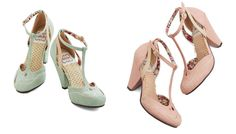 "T-strap shoes that fit your wedding to a T - The ""Classic Confection"" heel, by Betty Page. ($70)"