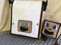 Tiny Box Tim and Markiplier inspired Messenger bag. Ready to ship! With adjustable strap and 3 pockets.