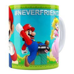 Caneca Super Mário Bros #NeverFriendZone Sexy 02