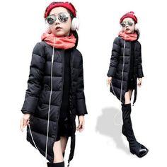 >> Click to Buy << 2017 New winter fashion Kids girls jacket children plus thick velvet jacket big virgin long warm coat for cold winter #Affiliate
