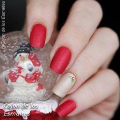 Uñas de navidad sencillas  Simple and easy christmas nail art