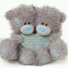 Tatty Teddy © Me to you Tatty Teddy, Blue Nose Friends, Wooden Hearts, Happy Anniversary, True Love, Heart Shapes, Wish, December, Teddy Bears
