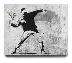 Banksy: A Molotov bouquet...