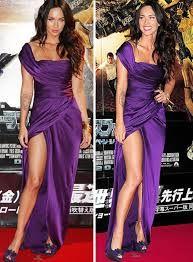 vestido roxo celebridades