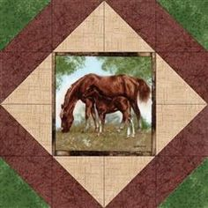 Stable Mates Quilt Blocks Kit.  This kit makes 12 quilt blocks and they are pre-cut.