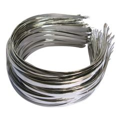 100 Pieces/Lot Wholesale 5mm Metal Hair Hoops Silver Plain Hairbands Headbands For Girls Kids Women DIY Hair Accessories