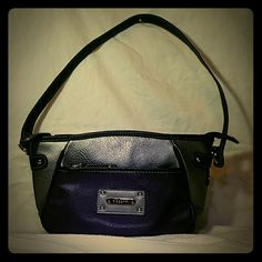 💋2/$19💋Small Rosetti Shoulder Bag Deep purple and silver with black trim. Great condition!  Perfect little shoulder bag Rosetti Bags