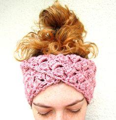 Crochet Boho Headband Turban Mobius Womens Dusty by joyfulgabby, $20.00