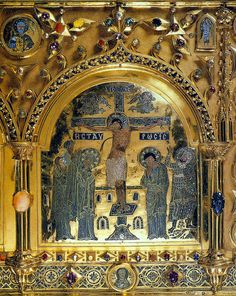 Venice, Pala d'Oro, detail 3 Crucifixion (Staurosis) by petrus.agricola, via Flickr