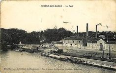 Nogent sur Marne France 1906 Harbor View Loading Barges Antique Vintage Postcard Nogent Sur Marne, Harbor View, France, Paris Skyline, Taj Mahal, Antique, Vintage, Building, Travel