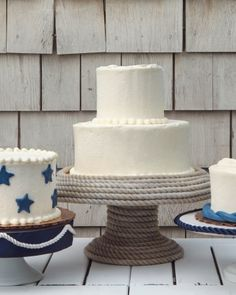 Love this nautical cake stand #marthastewartweddings