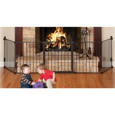 The Auto Close HearthGate provides maximum safety for use around fireplaces of any shape or size. As a hardware mounted gate, it's also ideal for use in any extra wide or odd shaped area. All joints rotate; setting individual sections to the ideal angle, and then easily lock in place for a secure attachment. The unique handle design on the extra wide door applies Magnet-Lock Technology, a dual magnet design that automatically draws the door closed and guarantees it locks each and every ti...