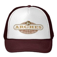 Arches National Park Hat -  - in eastern Utah. It is known for preserving over 2000 natural sandstone arches, including the world-famous Delicate Arch and a variety of unique geological resources & formations. Arches is located just outside of Moab, Utah.  http://www.zazzle.com/cdandc  #arches #nationalpark #archesnationalpark #moab #utah