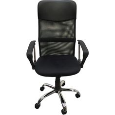 Alphason Perth Office Chair (€60) ❤ liked on Polyvore featuring home, furniture, chairs, office chairs, high back desk chair, chrome furniture, chrome desk chair, highback office chair and high back furniture