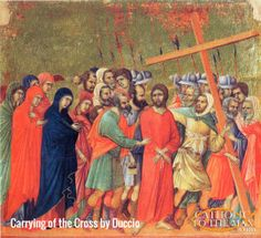 Carrying of the Cross by Duccio