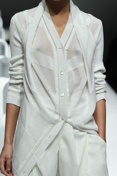 A DEGREE FAHRENHEIT SS 2013.  Appears to have faggoting on blouse