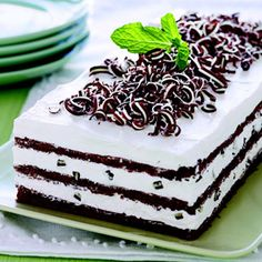 Grasshopper Cake - a piece of cake to make, this showstopping chocolate-mint dessert is a treat for friends and family.