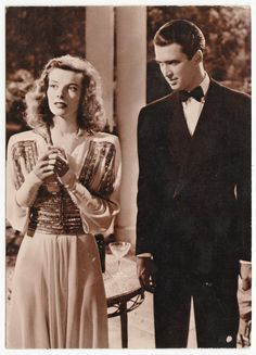 Postcards - Celebrities # 352 - Katharine Hepburn & Jimmy Stewart