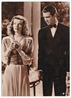 Postcards - Celebrities # 352 - Katharine Hepburn & Jimmy Stewart