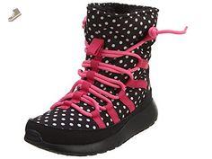 Nike Roshe One Hi Print Big Kids Style Shoes : 807744, Black/Pink Pow/Vivid Pink/White, 4 - Nike sneakers for women (*Amazon Partner-Link)