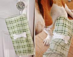Essuie-pattes pour chien DIY projet brico pour votre chien