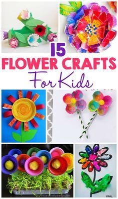 15 flower crafts for kids daycare crafts, preschool crafts, spring Spring Crafts For Kids, Crafts For Kids To Make, Summer Crafts, Art For Kids, Kids Paint Crafts, Daycare Crafts, Toddler Crafts, Preschool Crafts, Kids Daycare