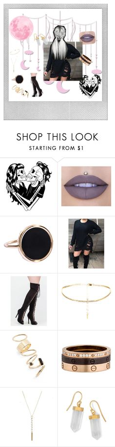 """""""Untitled #10"""" by lei-baez on Polyvore featuring Deandri, Jeffree Star, Ginette NY, BP., Cartier, BillyTheTree and Polaroid"""