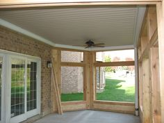 Acorn Deck Accessories: View some pictures of the Sealing CeilingTM under-deck ceiling system Under Deck Roofing, Patio Under Decks, Deck With Pergola, Decks And Porches, Patio Roof, Backyard Patio, Pergola Ideas, Railing Ideas, Porch Ideas