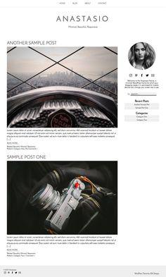 WordPress Theme: Anastasio Responsive Beautiful Minimal by GWPress anastasio.gary-wilkerson.com www.etsy.com/shop/gwpress