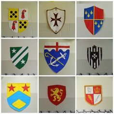 Each grade/classroom could design their own shield to display on classroom door or main hallway.