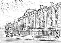 Trinity Library, Trinity College Dublin, Love Ireland, Irish Art, Green Fields, Latte Art, Art For Sale, Color Inspiration, How To Draw Hands