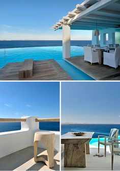 Cavo Tagoo is a beautiful boutique hotel on the island of Mykonos. The hotel, which is ingeniously engineered into the cliff-side, consists of several buildings connected to each other through a maze of staircases like the alleys of Mykonos.