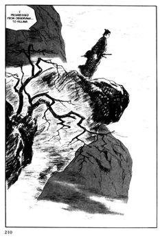 goseki kojima Lone Wolf And Cub, Arte Ninja, Oriental, Frank Miller, Ink Illustrations, Dark Art, Manhwa, Samurai, Manga Anime
