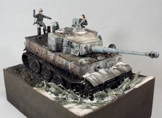 Tiger 1 1/35 Scale Model Diorama