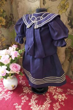 Great Original Antique Blue Marine for Dolls