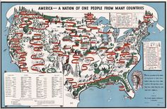37 infographics that explain how America is a nation of immigrants: http://www.bigdealbook.com/newsletters/hello/2015/09/08/#one_people_from_many_countries (This map by Langston Hughes.) #immigration