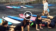 Video: Surfing lessons.....how funny!!!!