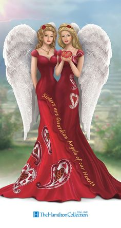 These Thomas Kinkade heart health angel figurines celebrate the love of sisters AND support a fabulous cause!