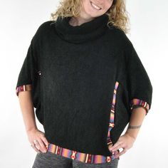 Mayan Butterfly Poncho Sweater