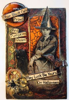 """Samain:  """"When Black Cats Prowl and Pumpkins Gleam, May Luck Be Yours on #Halloween."""""""
