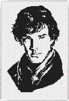 Sherlock Holmes x-stitch Sherlock Cross Stitch, Cross Stitch Art, Beaded Cross Stitch, Crochet Cross, Cross Stitch Alphabet, Cross Stitching, Cross Stitch Embroidery, Cross Stitch Patterns, C2c Crochet