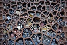 An insect hotel for your garden. Cut down on pesticides - use friends to do your gardening.
