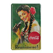 Cuadro de metal impreso vintage MEX COKE 20x30-