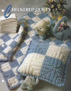 Checkered Quilts Annie's Crochet Quilt & by KnitKnacksCreations                                                                                                                                                     Mais