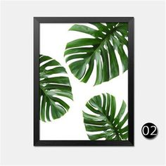 Tropical Leaf Printable Art Monstera leaves by PaperStormPrints Image Jesus, Green Wall Decor, Foto Transfer, Leaf Clipart, Plant Background, Art And Illustration, Tropical Decor, Tropical Interior, Leaf Art