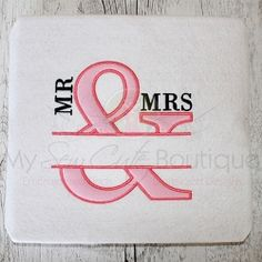 Mr and Mrs Wedding Applique - 12 Sizes!   What's New   Machine Embroidery Designs   SWAKembroidery.com My Sew Cute Boutique