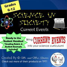Science in Society - Current Events! This recurring YEAR-ROUND activity keeps…
